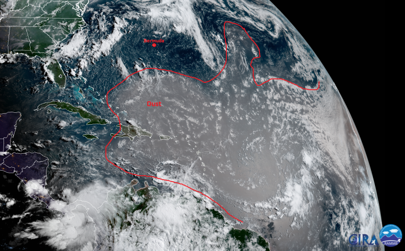 Annotated_12UTC_GOES16_TrueColor_SaharanDust
